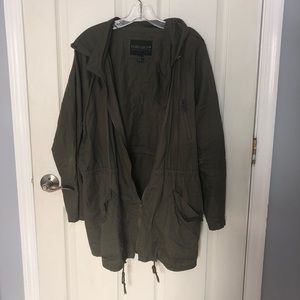 Forever 21 Plus army green jacket